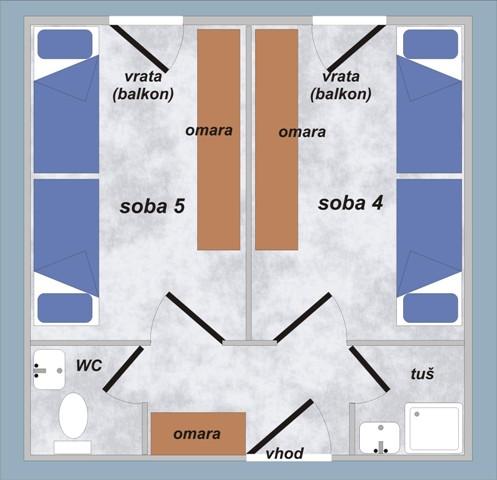 Soba 4 in soba 5